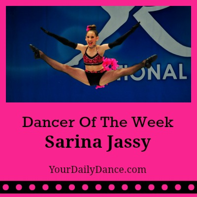 Dancer Of The Week:  Sarina Jassy