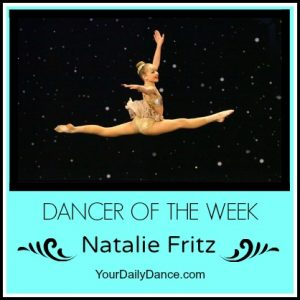 dancer of the week natalie fritz